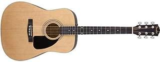 Fender FA-100 Beginner Acoustic Guitar with Gig Bag, Dreadnought Body Style, Natural Finish, Laurel Fretboard