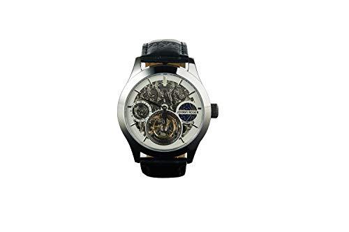 JOHNNYROGER フライングトゥールビヨン メンズ 腕時計 時計 男性用 彫り 本格 GMT 機械式 手巻き 正規品 本...