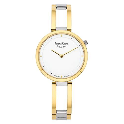 Bruno Söhnle Damen Analog Quarz Uhr mit Edelstahl Armband 17-23224-992