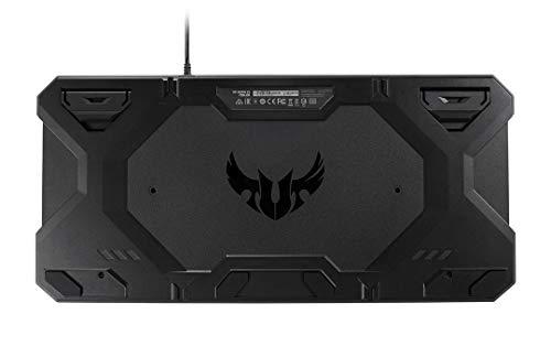 Asus TUF K5 Tastiera Gaming RGB Aura Sync, interruttori tattili Mech-Brane, tasti multimediali e poggiapolsi integrato [Layout Italiano]