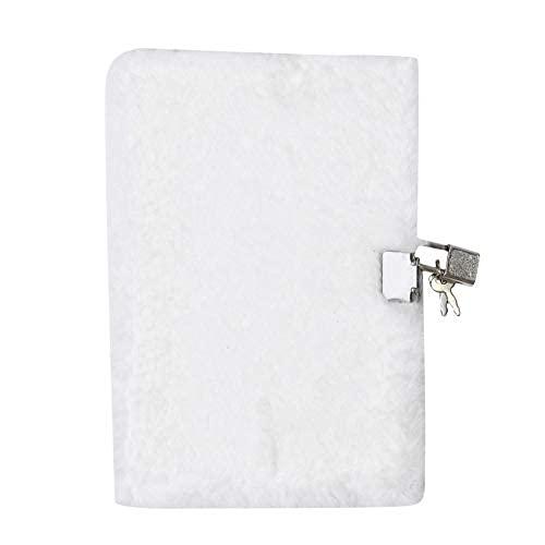 MOTT Diario de peluche suave para niñas, con cierre A5, cuaderno de bolsillo mullido, cuaderno de notas, cuaderno secreto de viaje, con forro, 215 x 145 mm