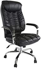 Mahmayi Nasla LO86H PU High Back Chair, Black, 52 x 53 x 126 cm, XILO86HHBBLKPU