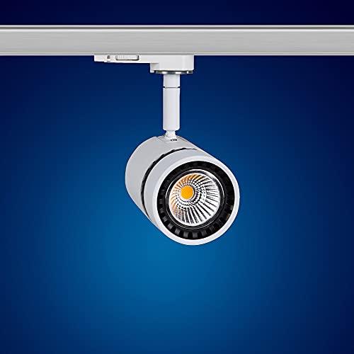 Mextronic 12 Watt LED 3-Phasen-Strahler/LED-Schienenleuchte warmweiß [Energieeffizienzklasse A+]
