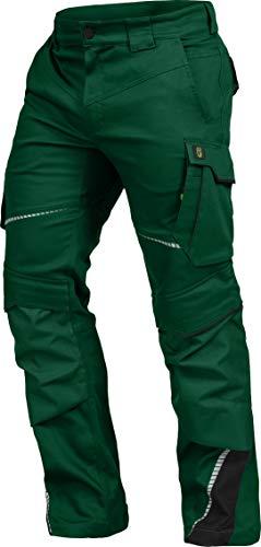 LEIB WÄCHTER Flex-Line Arbeitshose Bundhose Premium grün-schwarz mit Spandex … (52)