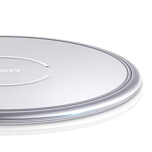 ESR Caricatore Wireless [Telaio Metallico] Pad, Ricarica Rapida 7.5W per iPhone 12 Mini/12/12 Pro/12 Pro MAX/ SE 2020/11/XR/8, 10W per Galaxy S20/S20+/S20...