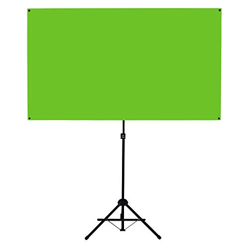 Valera Explorer 70 Inch Portable Green Screen for Gaming Streaming and Videos - Mounts on Tripod and Wall | 8 lbs | 2 min Setup | 16:9 Format | ChromaBoost Fabric with High Vibrancy for Low Lighting