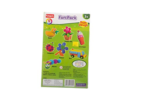 Fundough - Fun Pack , Shaping and Sculpting , 3years + , Multi-Colour 3