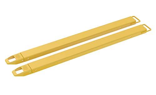 "Vestil FE-4-72 Steel Fork Extensions, Accommodates 4"" Fork Width, 72"" Length, 2"" Thickness"
