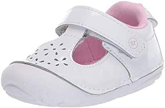 Stride Rite Girl's Soft Motion Amalie Sneaker, White, 3 Infant