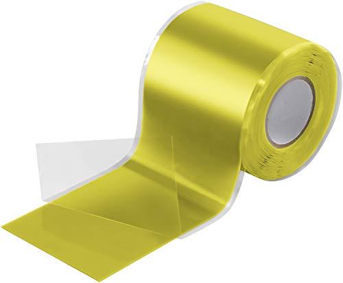 Poppstar 3m selbstverschweißendes Silikonband, Silikon Tape Reparaturband, Isolierband und Dichtungsband (Wasser, Luft), 50mm breit, gelb