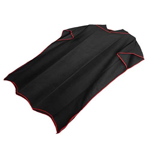 Baosity Toalha poncho de surfe com capuz para adultos e mulheres homens, roupão de microfibra para trocar de praia para nadar roupa de banho Kitesurf – Preto