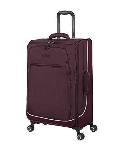 it luggage Encircle Softside Expandable Spinner, Deep Red, Checked-Medium 28-Inch