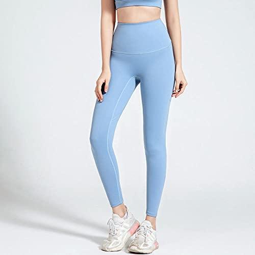 Push Up Mujer Mallas Pantalones,Pantalones de Yoga Super elásticos de la Cadera, Medias Deportivas de Cintura Alta-Azul_M,Mujer Fitness Mallas Push