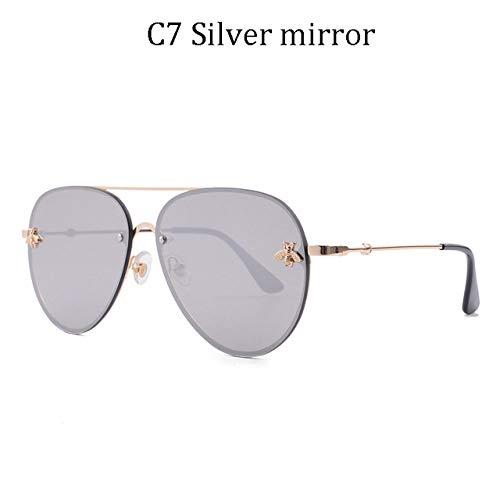 ZKYXZG Gafas de sol Luxury Female Rimless Sunglasses Women Sun Glasses Gradient Shades Lens Ladies UV400 rays,8839 C7
