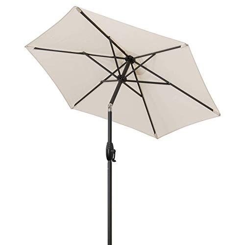 Doppler Sonnenschirm \'Basic Lift Neo\', Ø 180 cm Natur