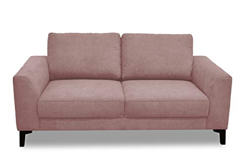 DOMO Collection Timeless Boxspringsofa, 2er Sofa mit Boxspringfederung, zeitlose Couch, 2 Sitzer in rosa, 182 x 94 x 89 cm
