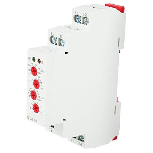 GRV8-04 Spannungsüberwachung Relais 3 Phasen Überwachungsrelais mit LED-Anzeigen DIN-Schienenmontage M265