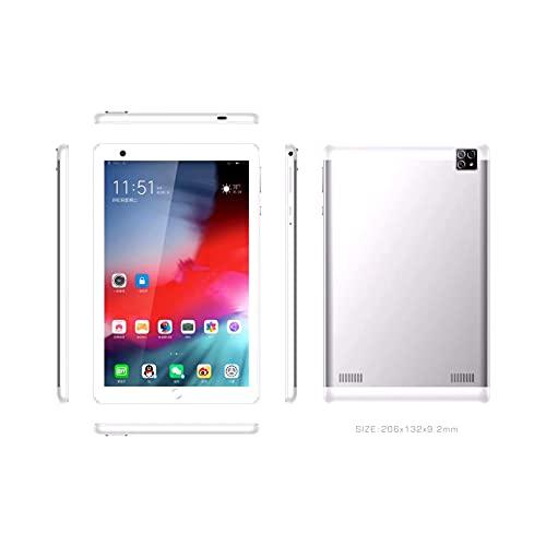 Fringe Trim Tablet Pc, Cámara Dual Android, Sensor De Gravedad Inteligente, Procesador De Ocho Núcleos, Soporte De Bluetooth, Tarjeta Dual Dual Standby, Pantalla IPS(Color:White-1+16G)