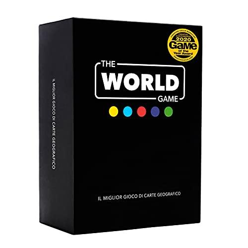 The World Game - Gioco di carte geografiche - Gioco da tavolo educativo per bambini, famiglie e adulti - Fantastica idea regalo per ragazzi e ragazze