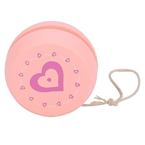VGEBY1 Giocattolo di Yoyo, Giocattolo educativo di Legno Yoyo della Palla del Fumetto per i Bambini dei Bambini (Cuore Rosa)