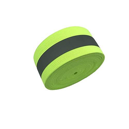 Reflective Elastic Fluorescent Green 1.5inch 5Yards (Reflective Green, 2inch)