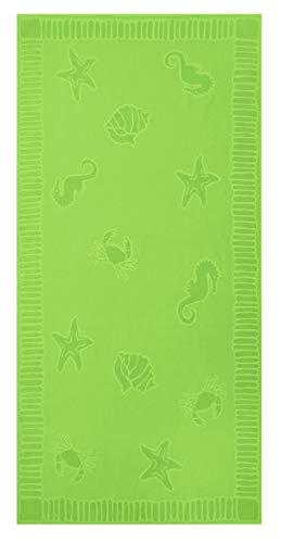 ZOLLNER XXL Strandtuch Baumwolle, 100x200 cm, grün (weitere verfügbar)