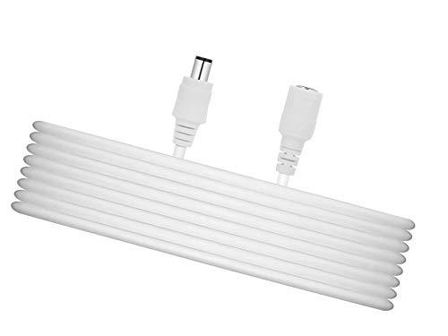 TIKUTKU 9M - Cable alargador CC (5,5 mm x 2,1 mm, conector hembra para fuente de alimentación, LED, CCTV, fuente de alimentación de cámara CCTV, 5 V/9 V/12 V/24 V, 9 M, blanco)