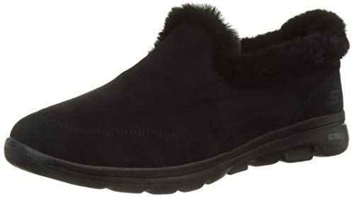 Skechers Womens Loafers Slipper, Black ,8 medium US