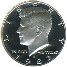 1988 S Kennedy Half Dollar Proof Deep Cameo DCAM Gem US Coin .50
