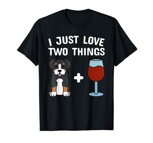 Wein Berner Sennenhund Hund T-Shirt