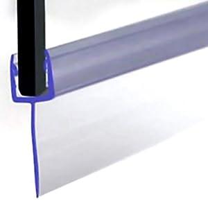 VeeBath SEAL006-P Sello para puerta de ducha tipo F, vidrio de 4-6 mm hasta 16 mm, transparente