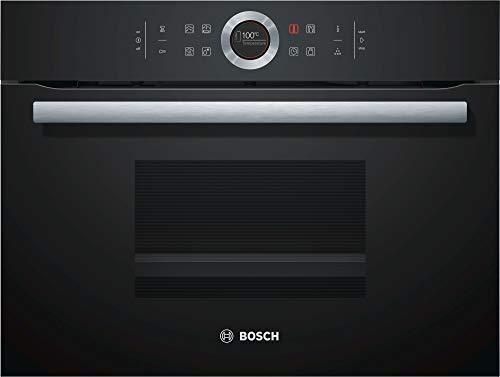 Bosch Volcano Black - Horno de vapor, color negro