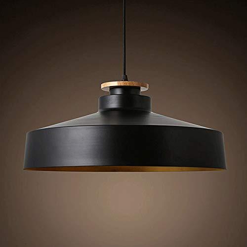 HSLJ1 Aluminium Single Head Schwarz Einfache Hängeleuchten Schlafzimmerleuchten Moderne Lampe Massivholz Balkon Pendelleuchte Nordic Einfachheit Dekoration Kronleuchter LED-Licht Edison-Lampen E27 Soc