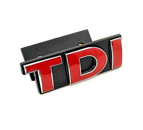WXQY Auto Vorne Kühlergrill Emblem Badge, 3D Metall Front Grill Abzeichen Aufkleber Emblem, TDI Logo Kühlergrill-Aufkleber Geeignet für Volkswagen Golf