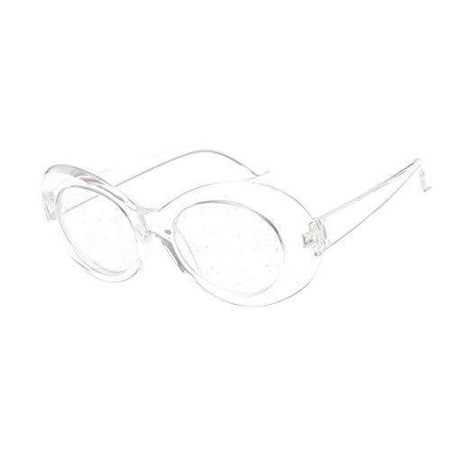 Taiyangcheng Occhiali da Sole Donna Occhiali ovali Lenti Glitter Occhiali da Vista per Gli Uomini Designer di Marca Candy Red Pink Yellow Sunglass,Chiaro