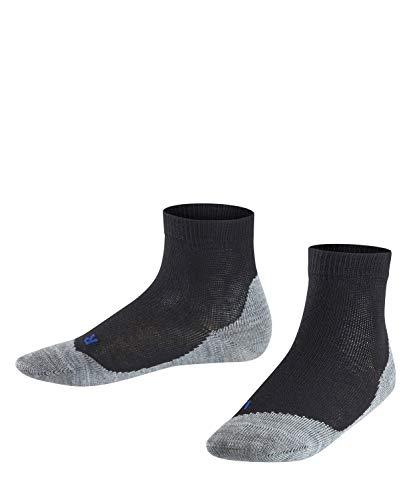 FALKE Kinder Sneakersocken Active Sunny Days - Baumwollmischung, 1 Paar, Schwarz (Black 3000), Größe: 39-42