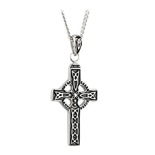 Solvar Pewter Designed Celtic Cross Designed Pendant with Trinity Knots