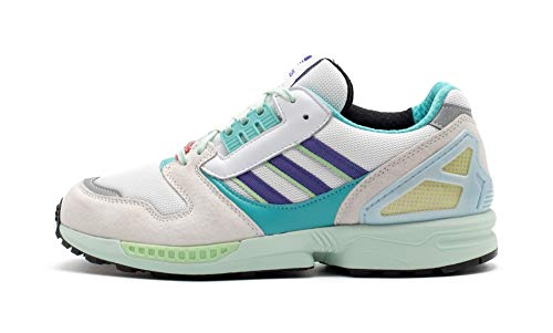 adidas Originals ZX 8000, Footwear White-Purple-Light Aqua, 4