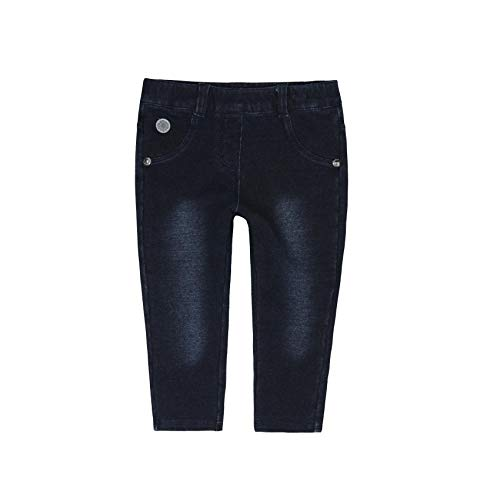 Boboli Boboli Baby-Mädchen Fleece Denim Trousers for Girl Trainingshose, Blau (Blau Dunkelblau), 74 cm