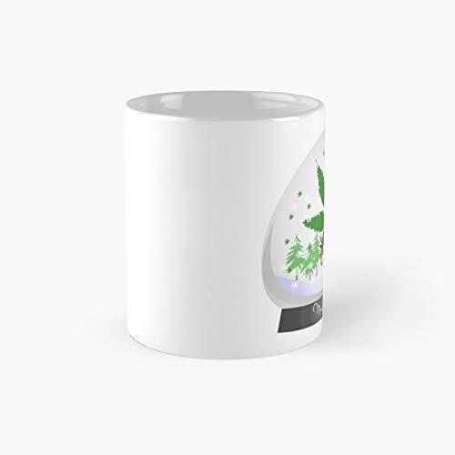 Merry Christmas Marijuana Snow Globe Classic Mug Best Gift Funny Coffee Mugs 11 Oz