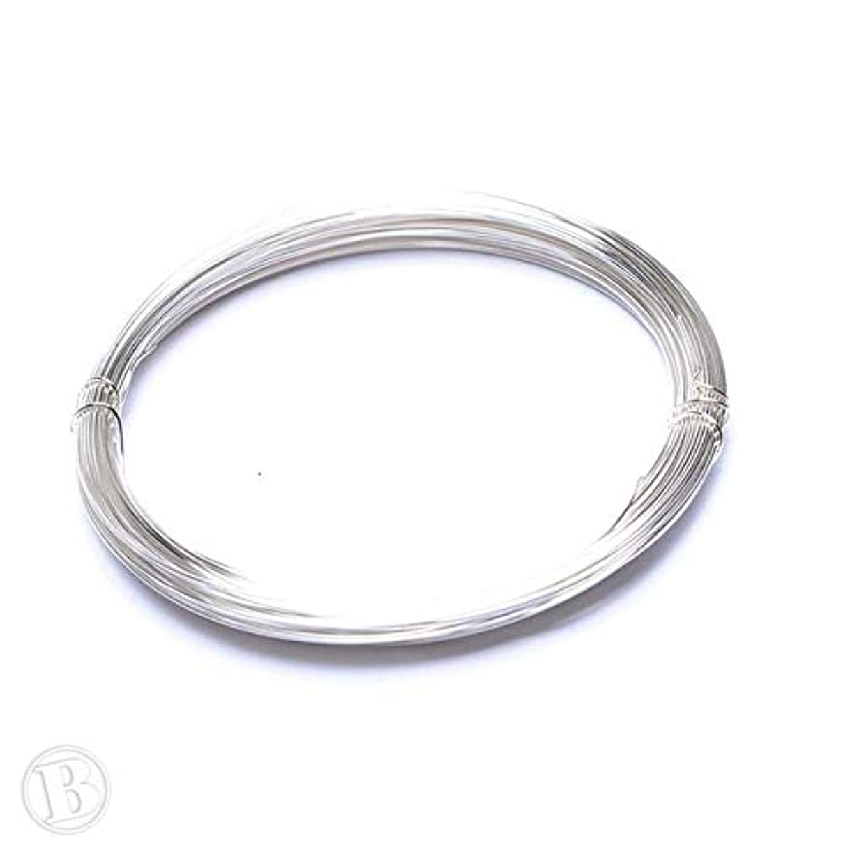 Beads Unlimited Wire, Silver Plated, 0.4mm
