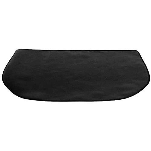 Hangrow Tapis ignifuge, tapis de foyer Fireplacemat, tapis de foyer de cheminée, coussin de protection résistant au feu, couverture ignifuge en fibre de verre demi-ronde ignifuge (50 * 100cm)