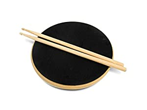 "15.7"" Double Sided Silent Drum Practice Pad & 16"" Drumstick Set by Trademark Innovations"