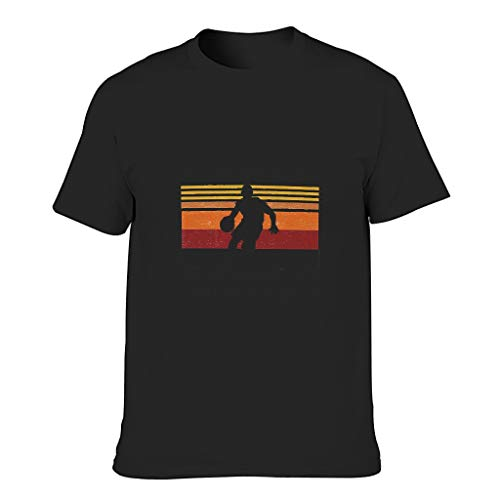 Camiseta de algodón para hombre, diseño de baloncesto con texto en inglés 'Know Things Cool Individuality Alphabet Style Shirt