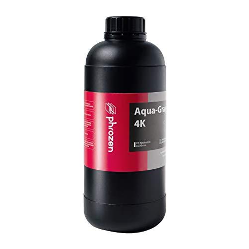 PHROZEN Impresora 3D Rapid Aqua-Grey 4K Resina, 405nm LCD UV-Curing Resina de fotopolímero estándar para impresión rápida de alta precisión, bajo olor, no quebradizo, no tóxico