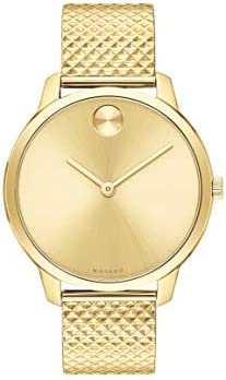 Movado Bold Gold Steel Case Gold Dial Steel Mesh Bracelet Women 3600598 product image