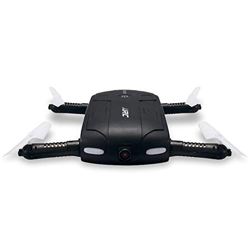 Wapipey H37P Elfie Mini Selfie Drone 480P WiFi FPV Camera Foldable Arm APP Control RC Quadcopter with Remote Control and 3.7V 500mAh Battery