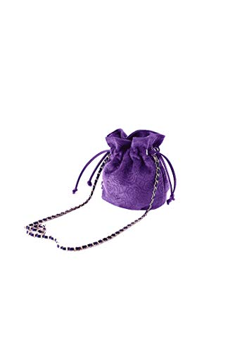 Ulisty Damen Samt Kordelzug Klein Beuteltasche Mini Eimer Tasche Schultertasche Handtasche Umhängetasche Rosa