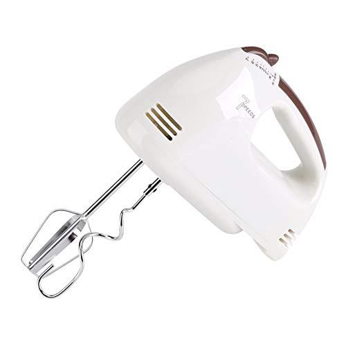 QWER 100W 220V 7 Geschwindigkeiten Elektrischer Handmixer Eierschläger Milchaufschäumer Schäumer Kuchen Backen Küchengeräte,Weiß