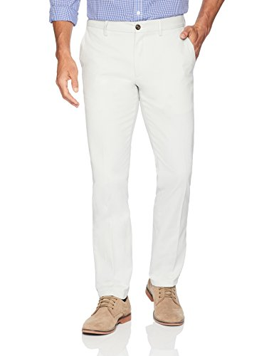Amazon Essentials Men's Slim-Fit Wrinkle-Resistant Flat-Front Chino Pant, Silver, 32W x 30L